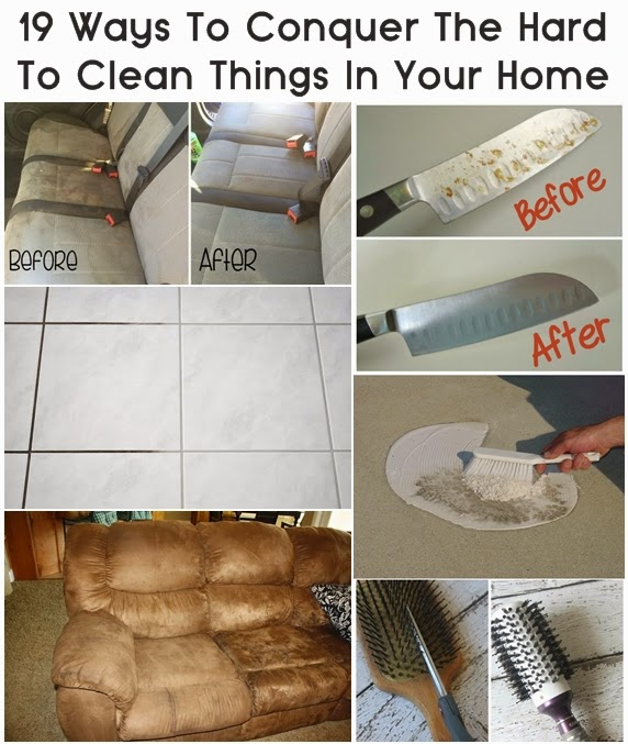 19 Ways To Conquer The Hard To Clean Things In Your Home