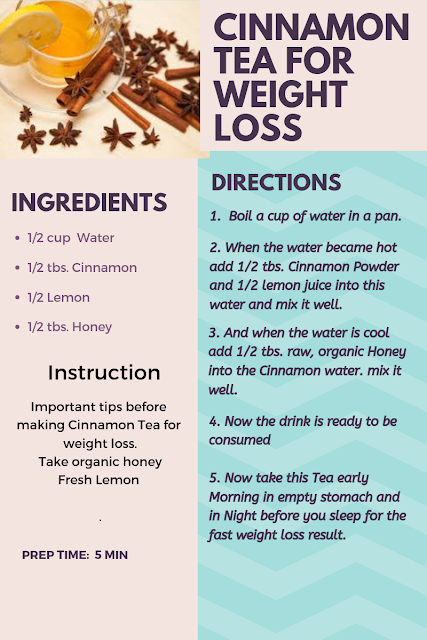 cinnamon tea for weight loss
