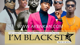 We are black Stars-Kuami Eugene, MzVee, Yaa Pono, Adina, fancy Gadam, Kidi, Edem,
