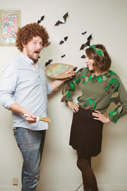 Rags And Roses Easy Diy Couple' Costume Bob Ross