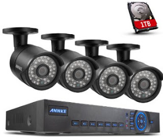 Annke 8CH 720P Analog HD HVR/DVR/NVR 1.0 MP AHD CCTV ...