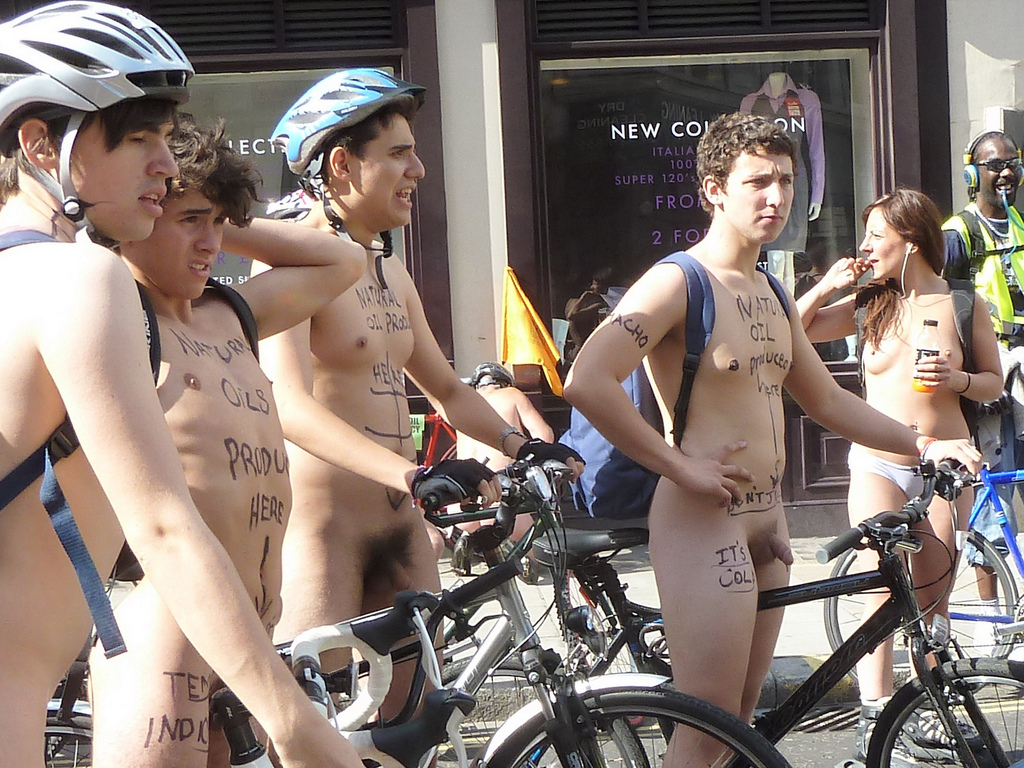 Performing Males Fit Naked Bike Riders-5611