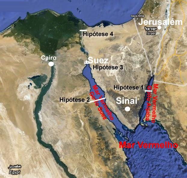 Mar Vermelho onde supostamente Moisés abriu o Mar Vermelho