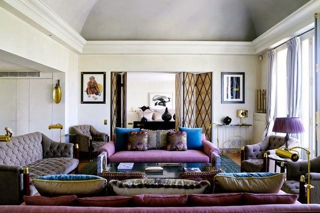 Hogares frescos ideas e inspiraci n coloridas para tu for Idea sala de estar cuadrada