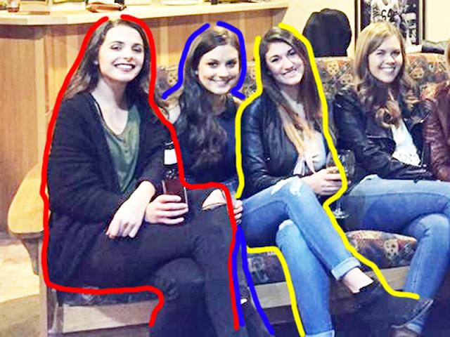 Ilusi Optik Ini Enam Wanita Dengan Hanya Lima Pasang Kaki