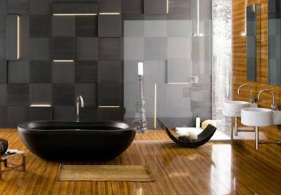 Salah satu desain kamar mandi yang menginspirasi adalah kamar mandi minimalis dengan batu alam. Desain tersebut menjadi jenis modern yang saat ini banyak digemari oleh masyarakat.