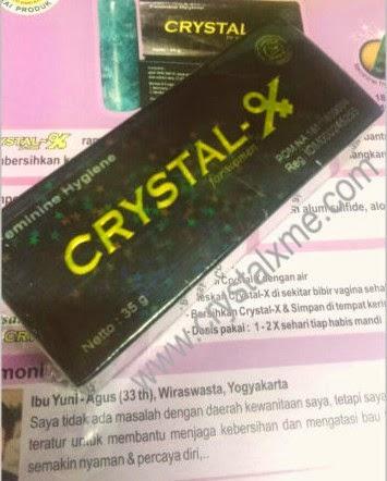 ciri cristal x asli terlihat gambar bintang bintang kecil