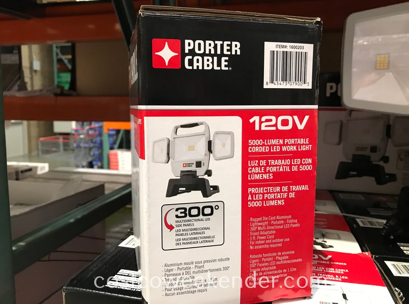Porter Cable Portable Corded LED Work Light makes it safer when handling power tools