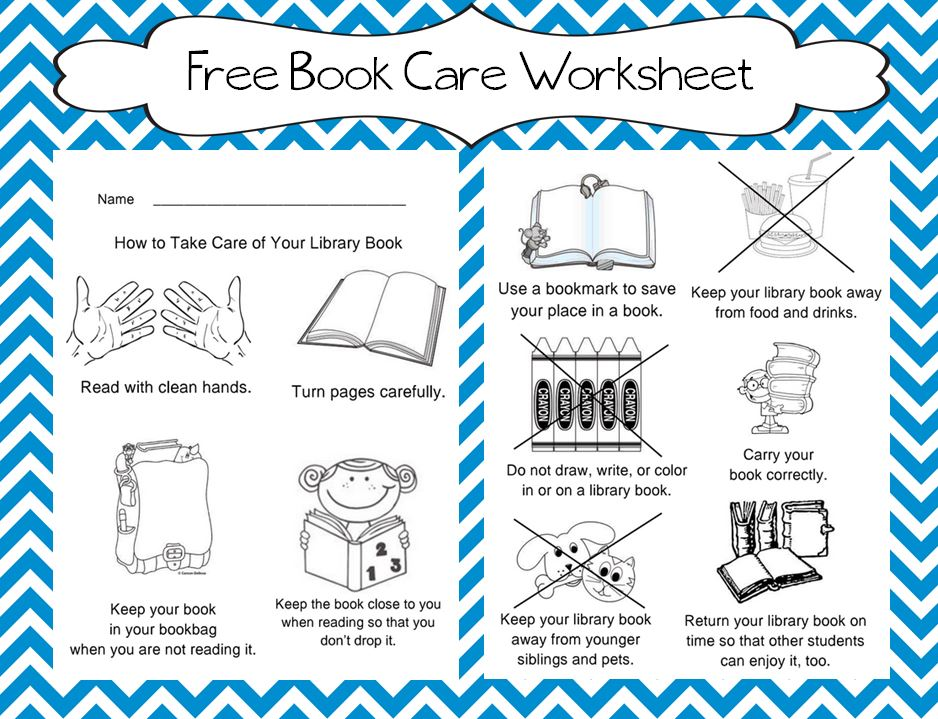 Worksheets Library Skills Worksheets the book bug freebies care worksheet