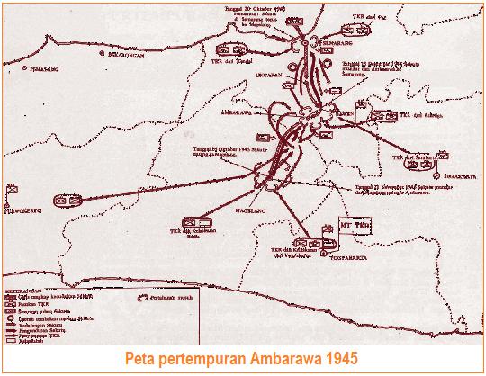 Peta pertempuran Ambarawa 1945