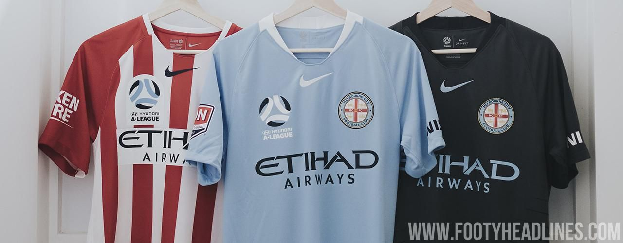 Melbourne City 18 19 Home Away Third Kits Released Footy Headlines