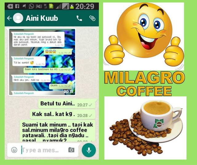 MILAGRO COFFEE  KOPI PERTAMA MENGANDUNGI HERBA FATAWALI -TINOSPORA CRISPA (Natural Insulin Booster )