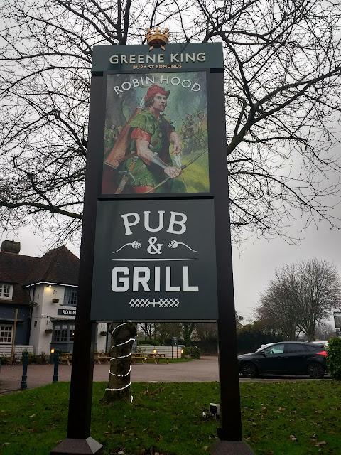 Robin Hood, Pub, Cambridge, Cherry Hinton, Pub sign