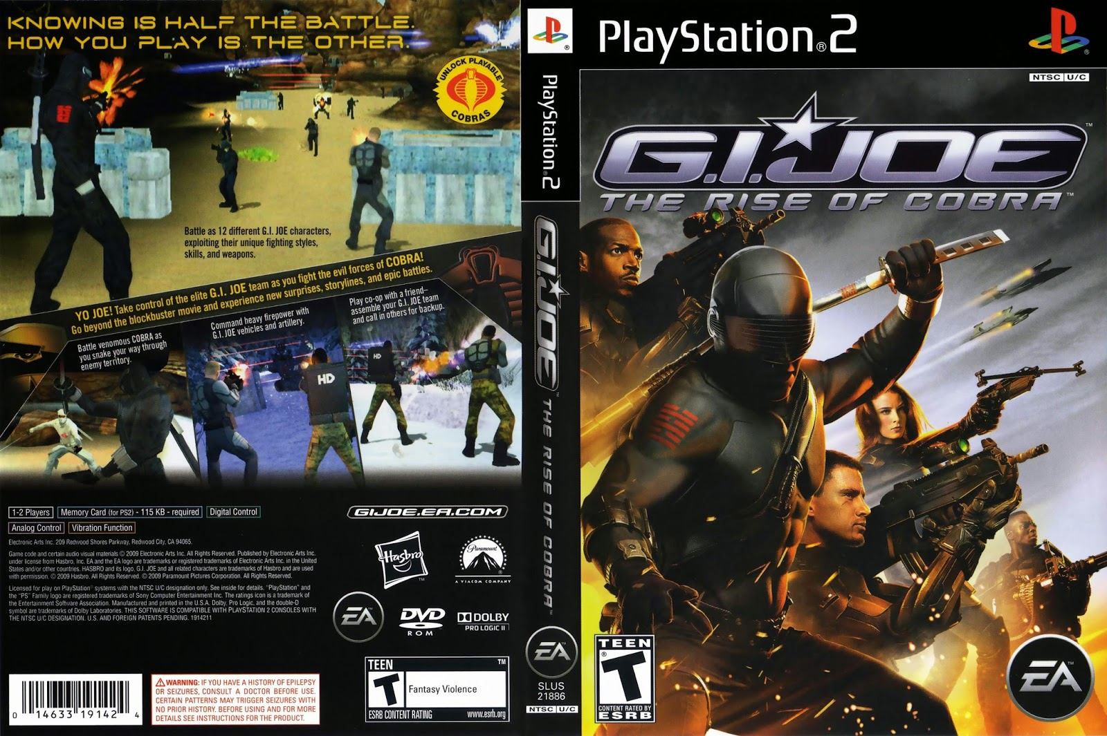 G.I. Joe: The Rise of Cobra PS2 DVD Capa