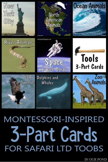 Montessori-Inspired 3-Part Cards // In Our Pond // homeschooling // school // Montessori at home // free printable