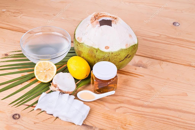 coconut and honey face mask