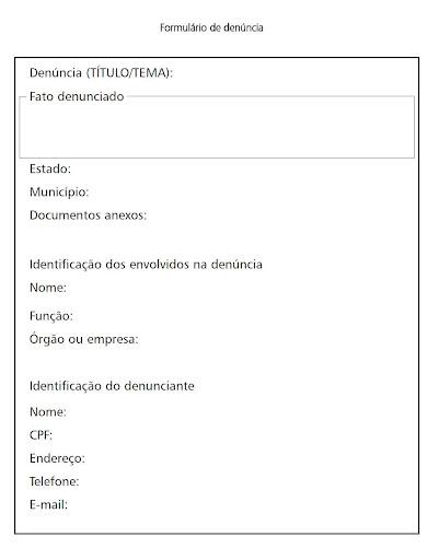 O Modelo Denúncia Dissertação November 2019 Serviço