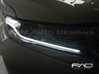 custom modifikasi lampu depan pajero 2017 dengan DRL Lexus Style