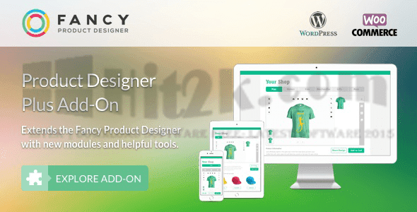 Fancy Product Designer Plus Add-on v1.1.5 WooCommerce WordPress Themes