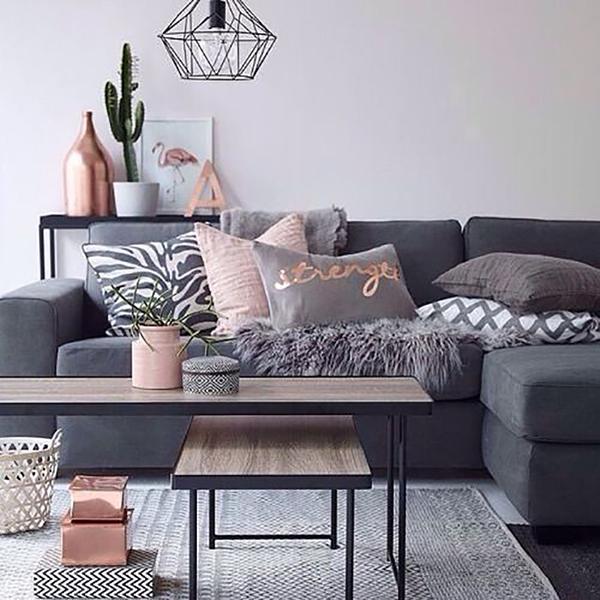 cinza e rosa na decoracao-da-sala-abrir-janela