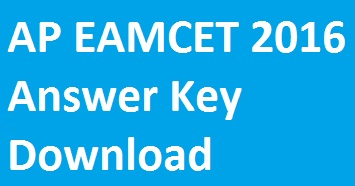 ap eamcet answer key 2016, ap eamcet 2016 answer key download