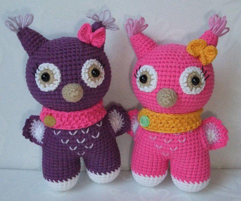 Crochet toy owl amigurumi