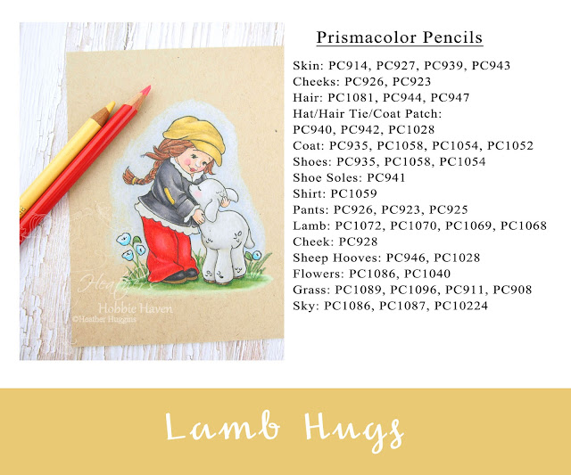 Heather's Hobbie Haven - Colored Pencil Tuesday - Lamb Hugs