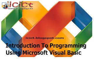 Introduction To Programming Using Microsoft Visual Basic – Tutorial 2.