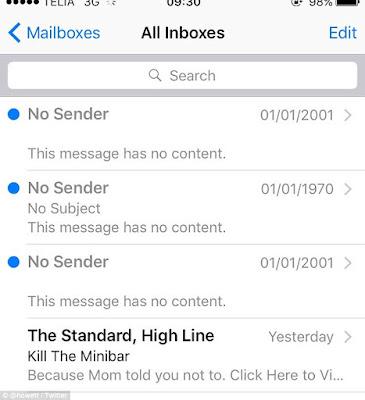 Pengguna IPhone Menerima E-Mail, Misterius Dari Masa Lalu