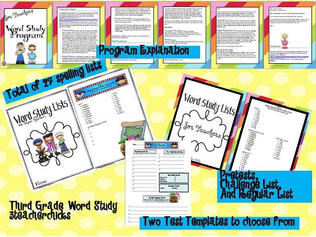 3 Teacher Chicks Word Study Wowza!