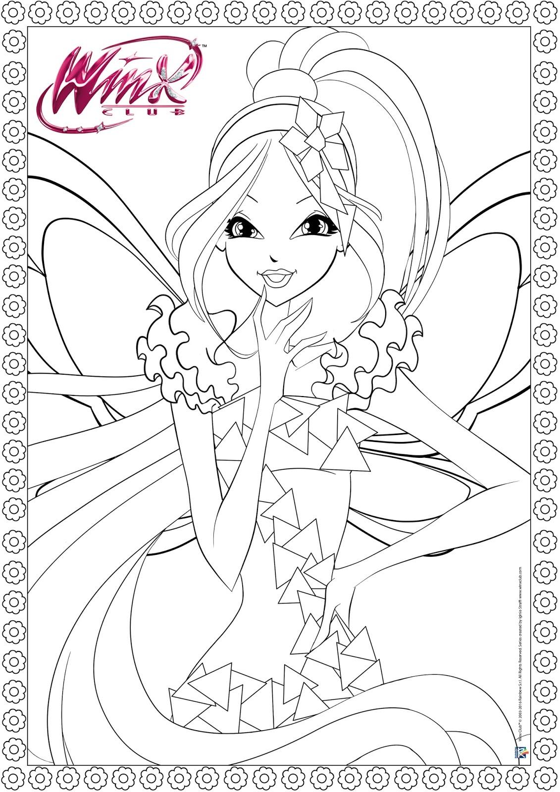 Winx Tynix Imagens Para Colorir Winx Club Epis 243 Dios
