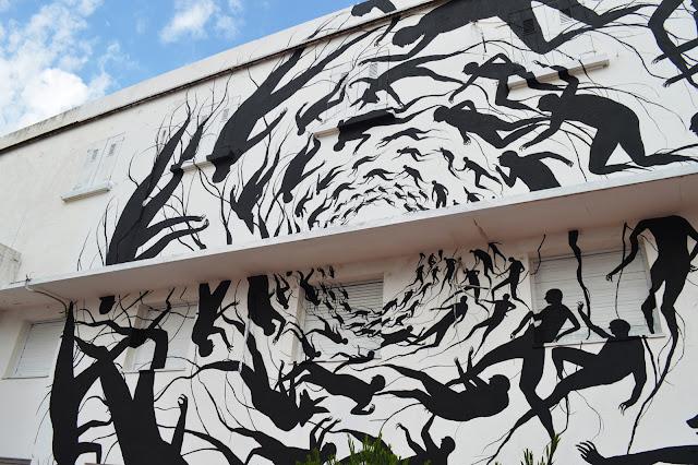"""""""Vortice"""" New Mural BY David De La Mano on the streets of Punta Del Este in Uruguay. 3"""