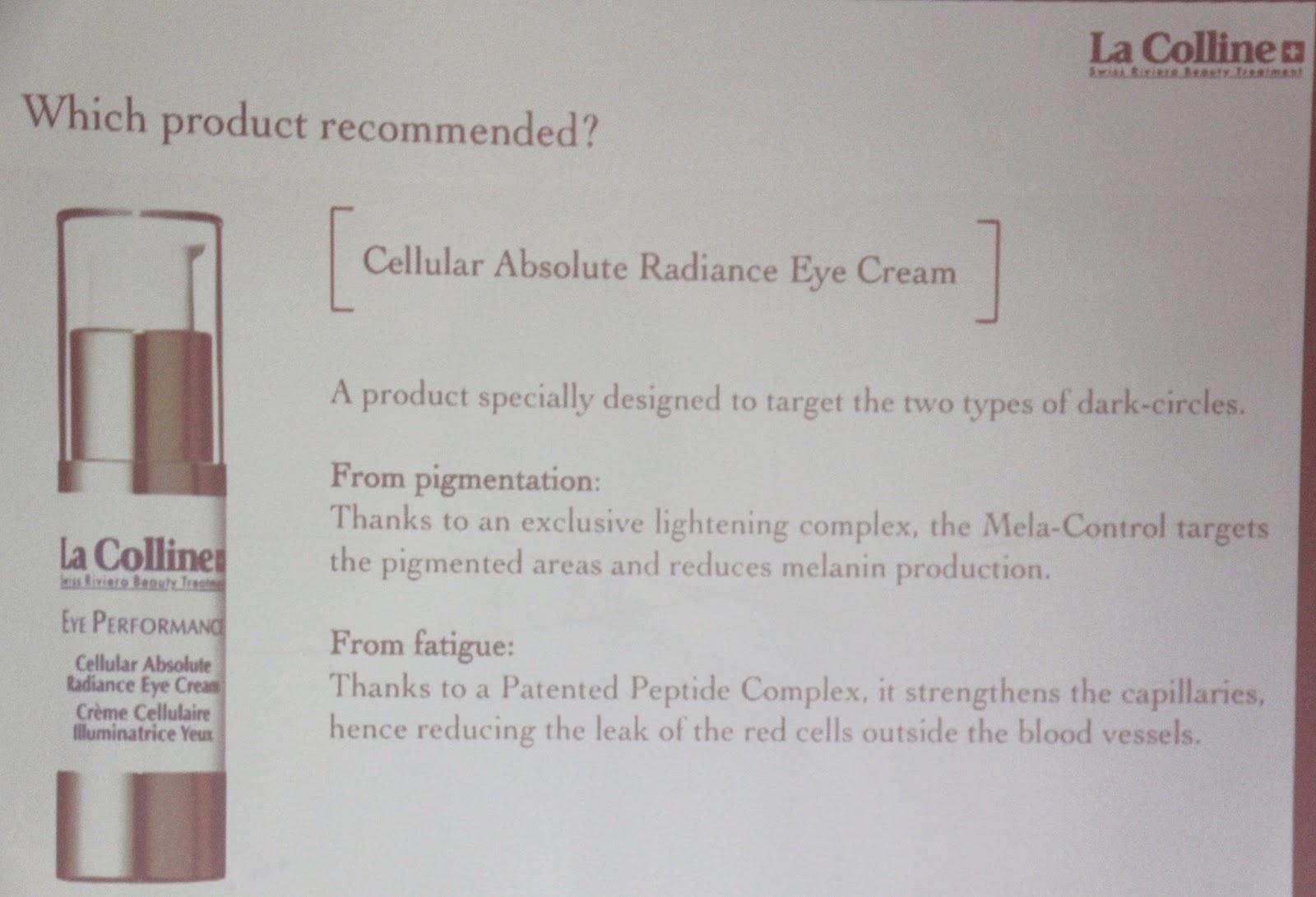 low priced 69e6a 2e5dc ... light-Cellular Vital Eye Lift Essence), a Cellular Vital Eye Gel and a  Cellular Eye Mask that address different concerns of women-like dark  circles, ...