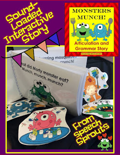 Monsters Speech Therapy Bundle-Shining Stars Linky Party www.speechsproutstherapy.com