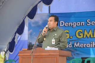 Wabup Arief Rohman hadir dipenggilingan perdana tebu GMMBulog2017-Humasblorakab