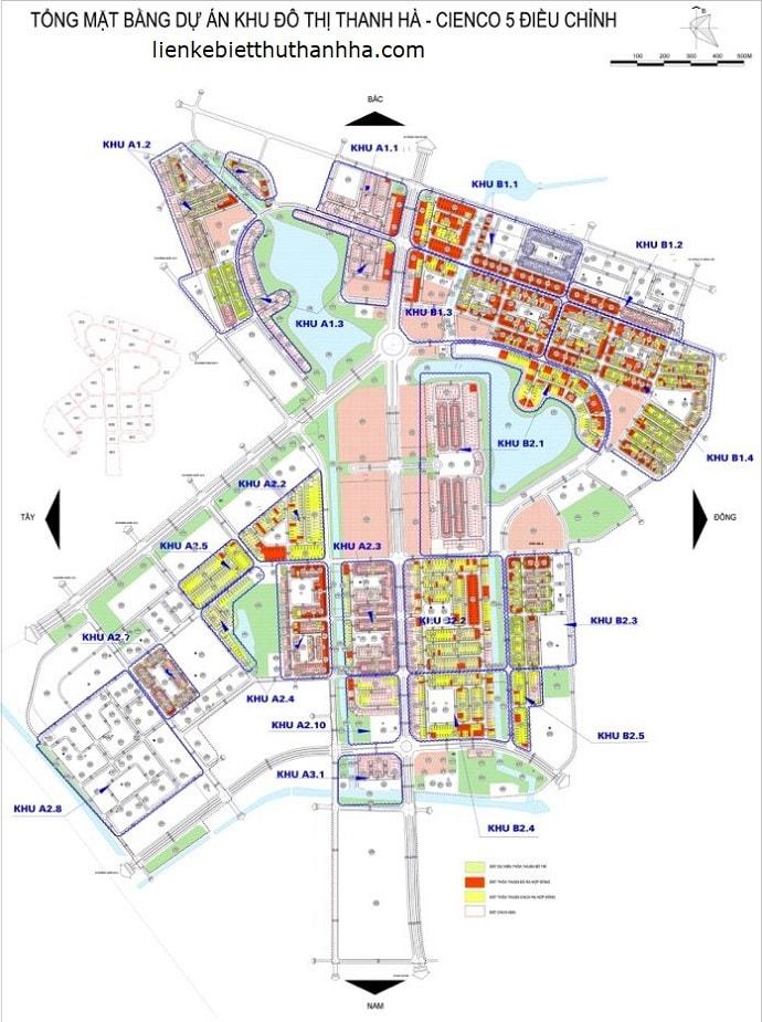 sơ đồ khu đô thị mới thanh hà