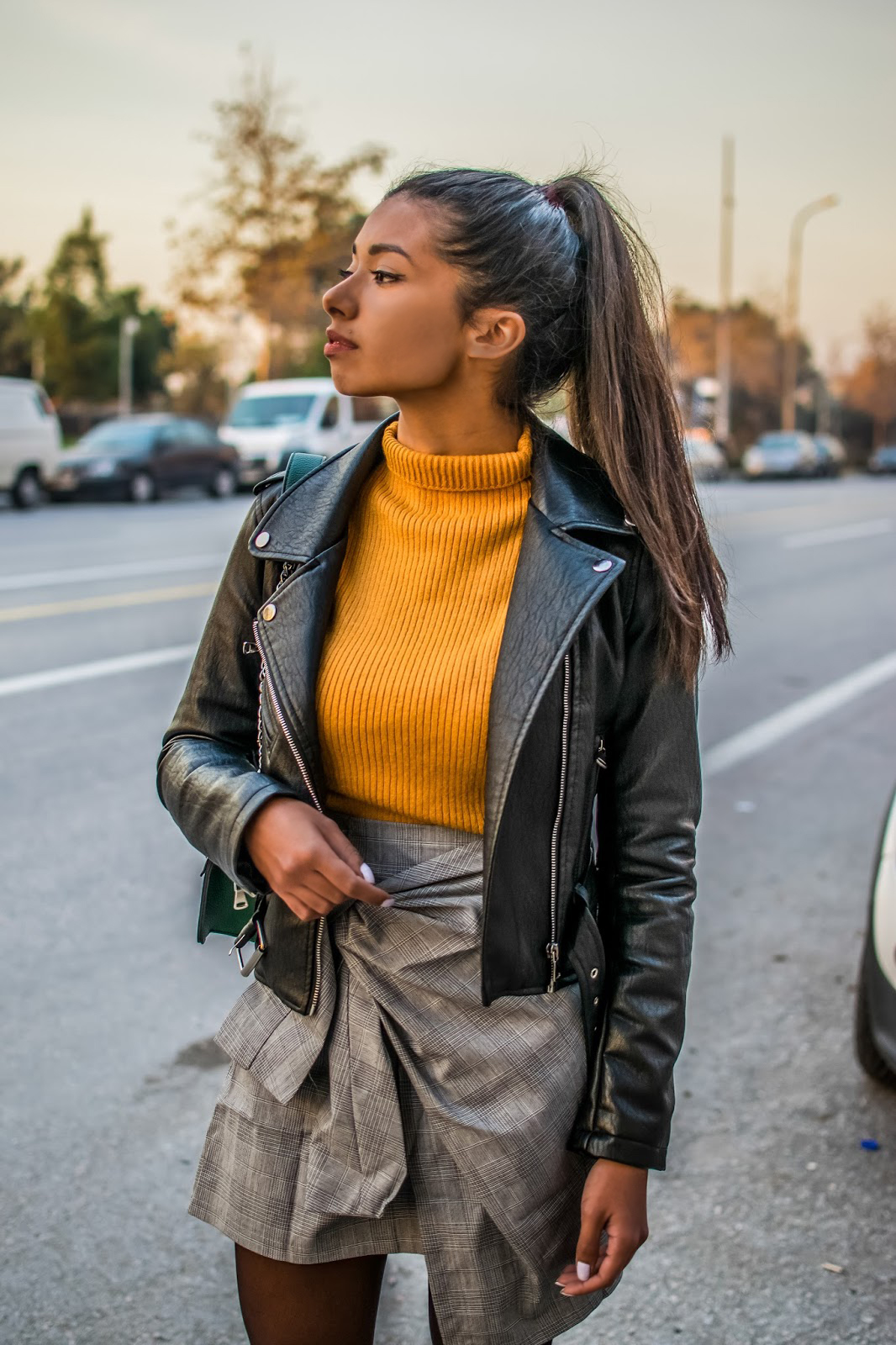 leather moto jacket outfit