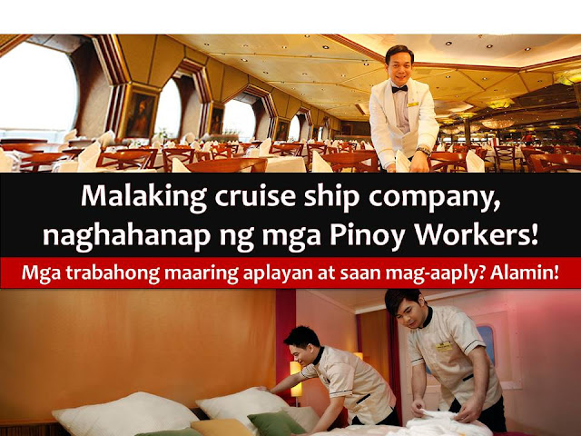 For the first time, Manila will become a home port of a cruise ship - The Star Cruises' Superstar Virgo that will sail from Manila and take its guest to Laoag City in Ilocos Norte, Taiwan, and Hong Kong.  This is not just a good news for Filipinos who want to experience hassle-free, visa-visa free cruising from its doorstep but also for those who are looking job opportunity to work on the cruise ship.