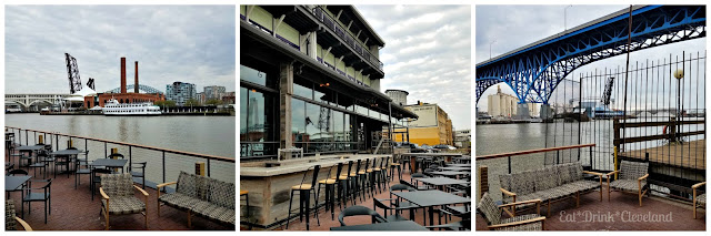 Flats East Bank, Cleveland, river views, restaurant with a water view