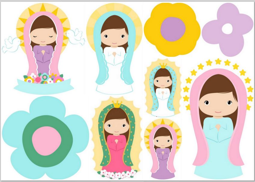 b3bc4f344e74 Clipart de Virgencitas Plis. | Oh My Primera Comunión!