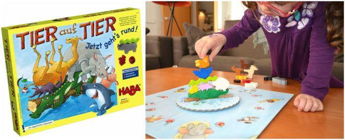 juguetes y juegos para ayudar a aprender a leer y escribir, animal sobre animal equilibrio