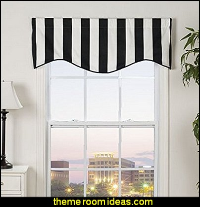 Stripe Shaped Valance   window treatments - curtains - window decorations - sheers - Drapes & Valance Sets - ruffled curtains - cornice - window murals - do-it-yourself window ideas - Room Dividers