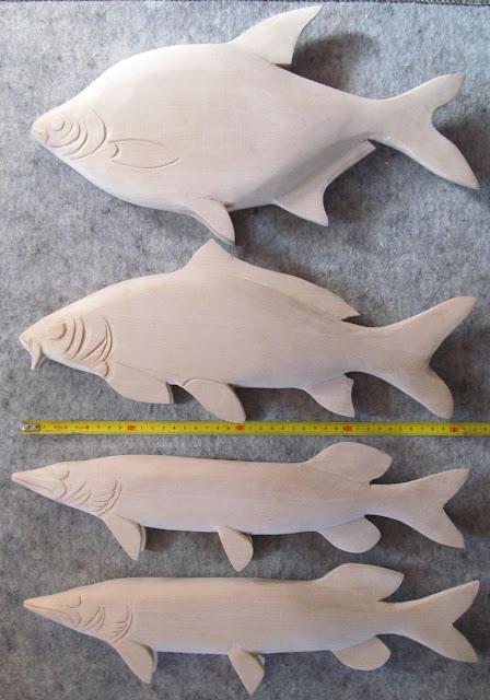 деревянные рыбки для раскраски