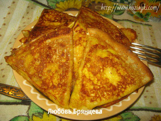 закуска из блинов с фото