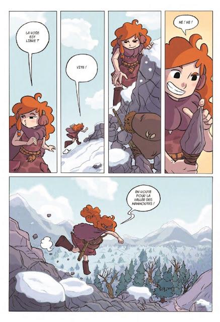"""Liloo filles des cavernes tome 1 """"la grande chasse"""" page 6 du récit"""