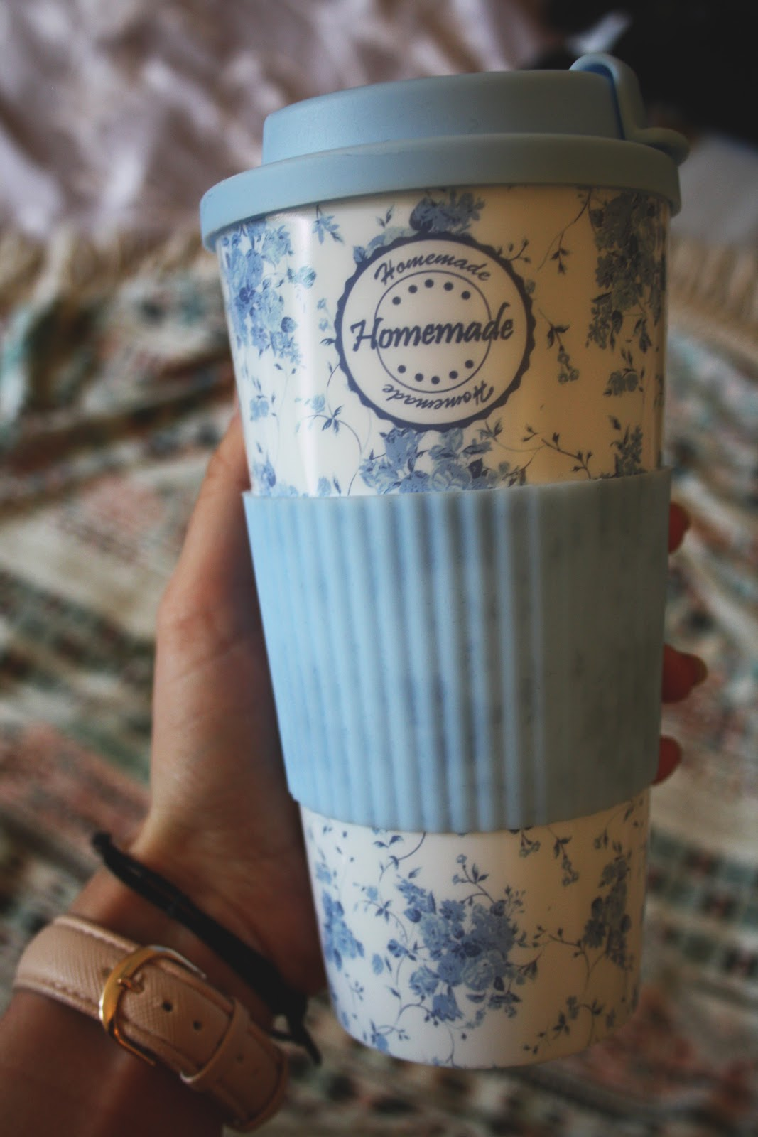 Mug Coffee Blue Floral Homemade