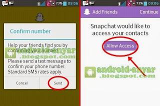 Langkah daftar ke Snapchat