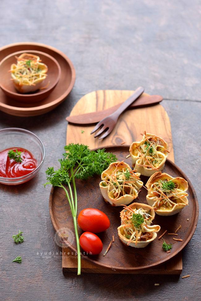 Mushroom & Sausage Bread Quiche