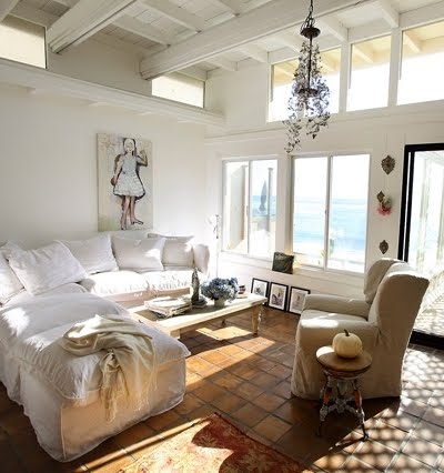 shabby chic cottage living