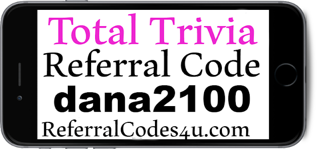 Total Trivia Referral Code, Invitation Code, Sign UP bonus and Reviews 2021-2022